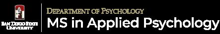 SDSU Applied Psychology M.S. Program Logo